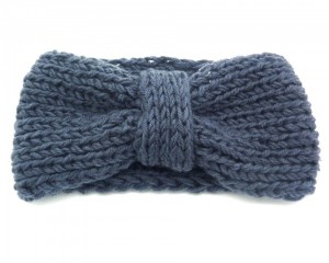 Headband-Fashion-Turban-Maille-Gris