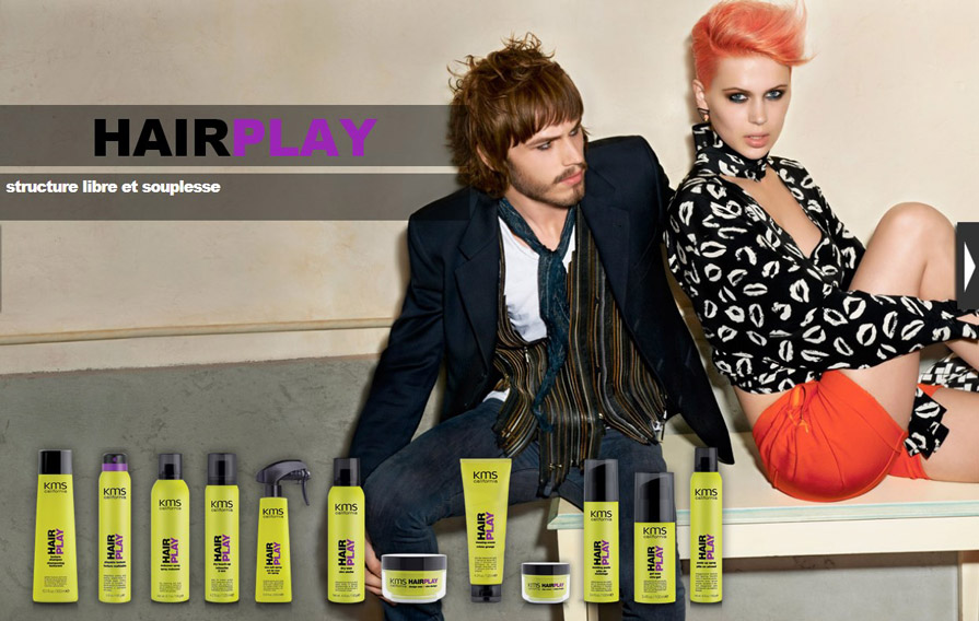 Kms produit coiffant gamme Hairplay